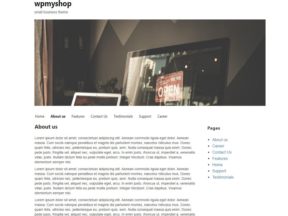 wpmyshop business WordPress theme