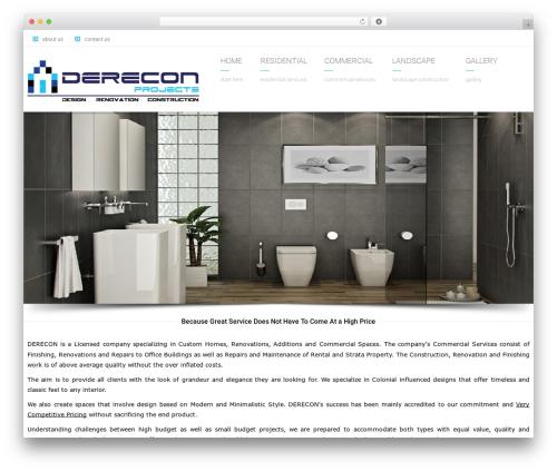 Arkitekt WP theme - dereconprojects.ca