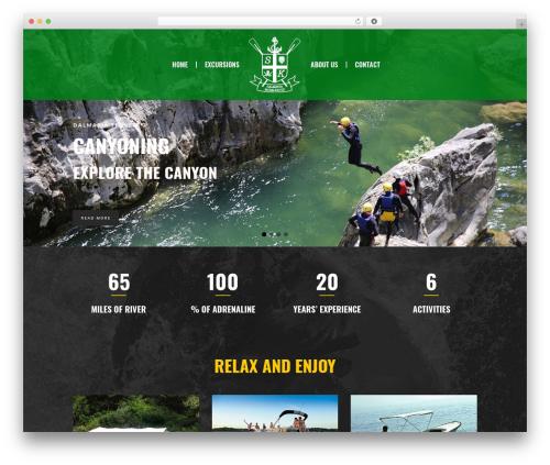 Best WordPress theme Mikado One - dalmatia-excursions.com