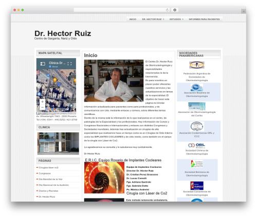 Bounce best WordPress theme - drhectorruiz.com.ar