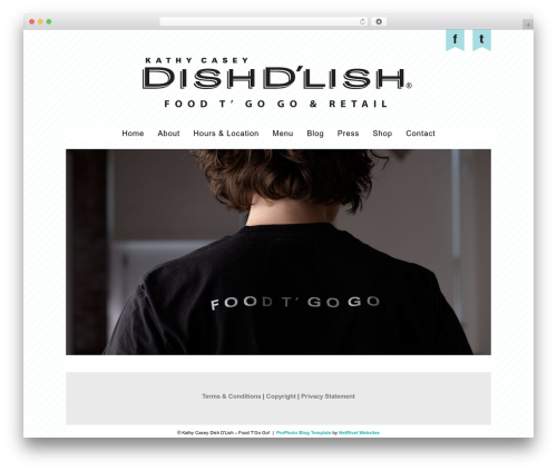 ProPhoto WordPress template - dishdlish.com