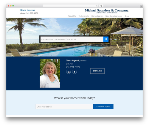 Residential - Theme 1 real estate template WordPress - dianakryszakhomes.com