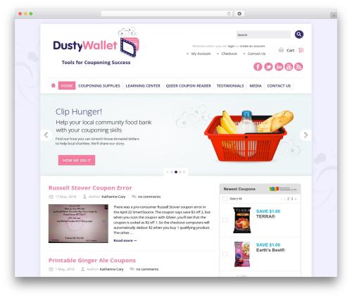 Shoppica WordPress shop theme - dustywallet.com