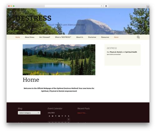 Twenty Thirteen best free WordPress theme - destressmethod.com