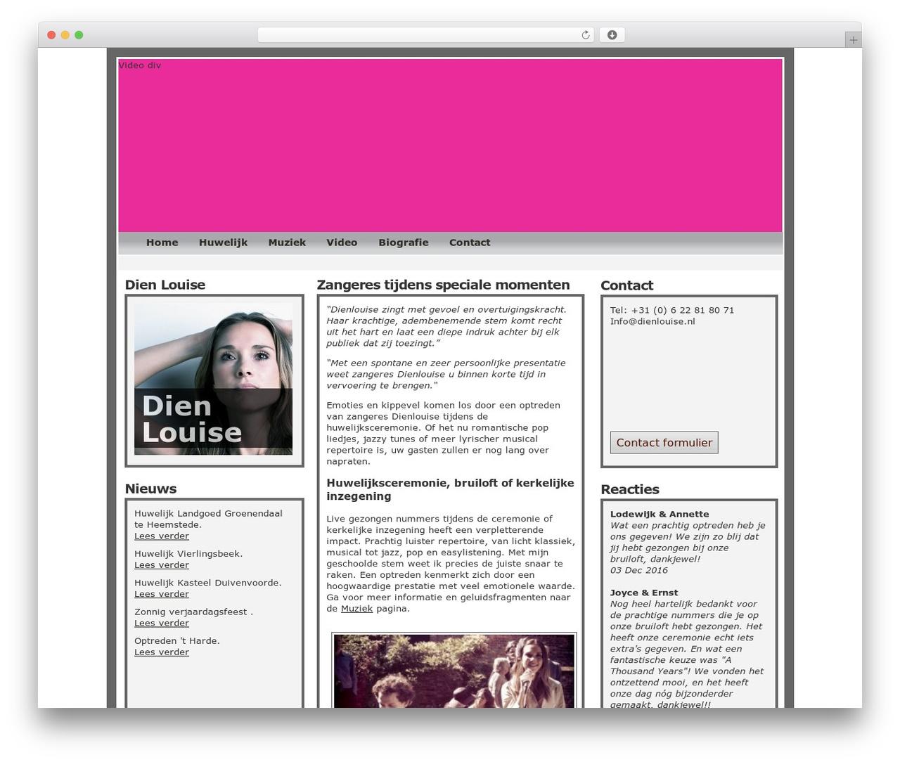 WordPress theme Dien - dienlouise.nl