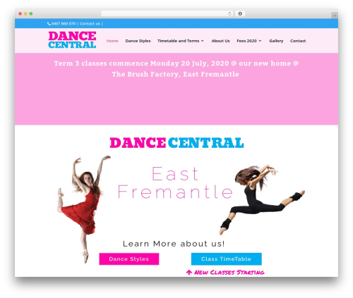 WordPress theme Divi - dance-central.net