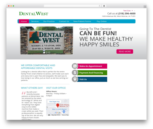 WordPress theme Genesis - dentalwest.net