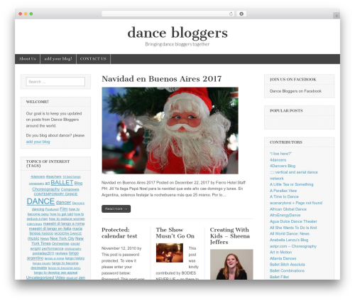 WordPress theme Magazine Basic - dancebloggers.com