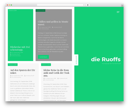 WordPress website template ClubFitness - dieruoffs.de