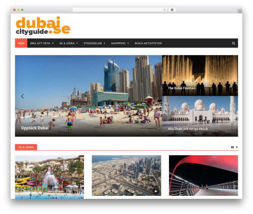 Best WordPress template Awaken Pro - dubaicityguide.se