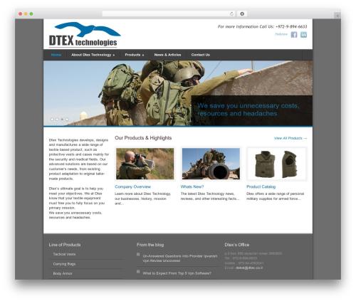 Modernize theme WordPress free - dtex.co.il