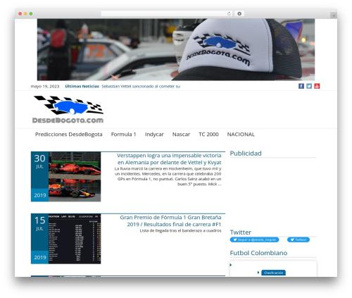 News Magazine best WordPress magazine theme - desdebogota.com