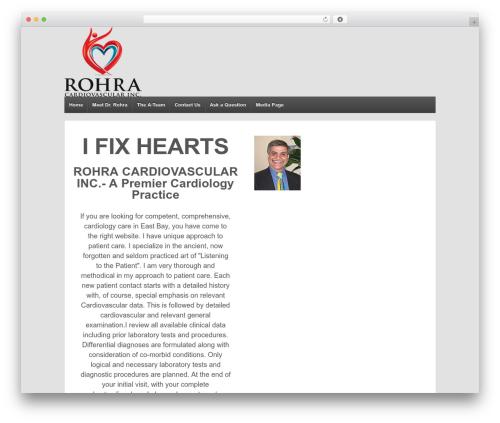 Responsive best free WordPress theme - drrohra.com