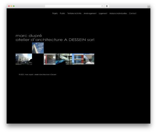 Salient WordPress website template - dupre-architecte.fr
