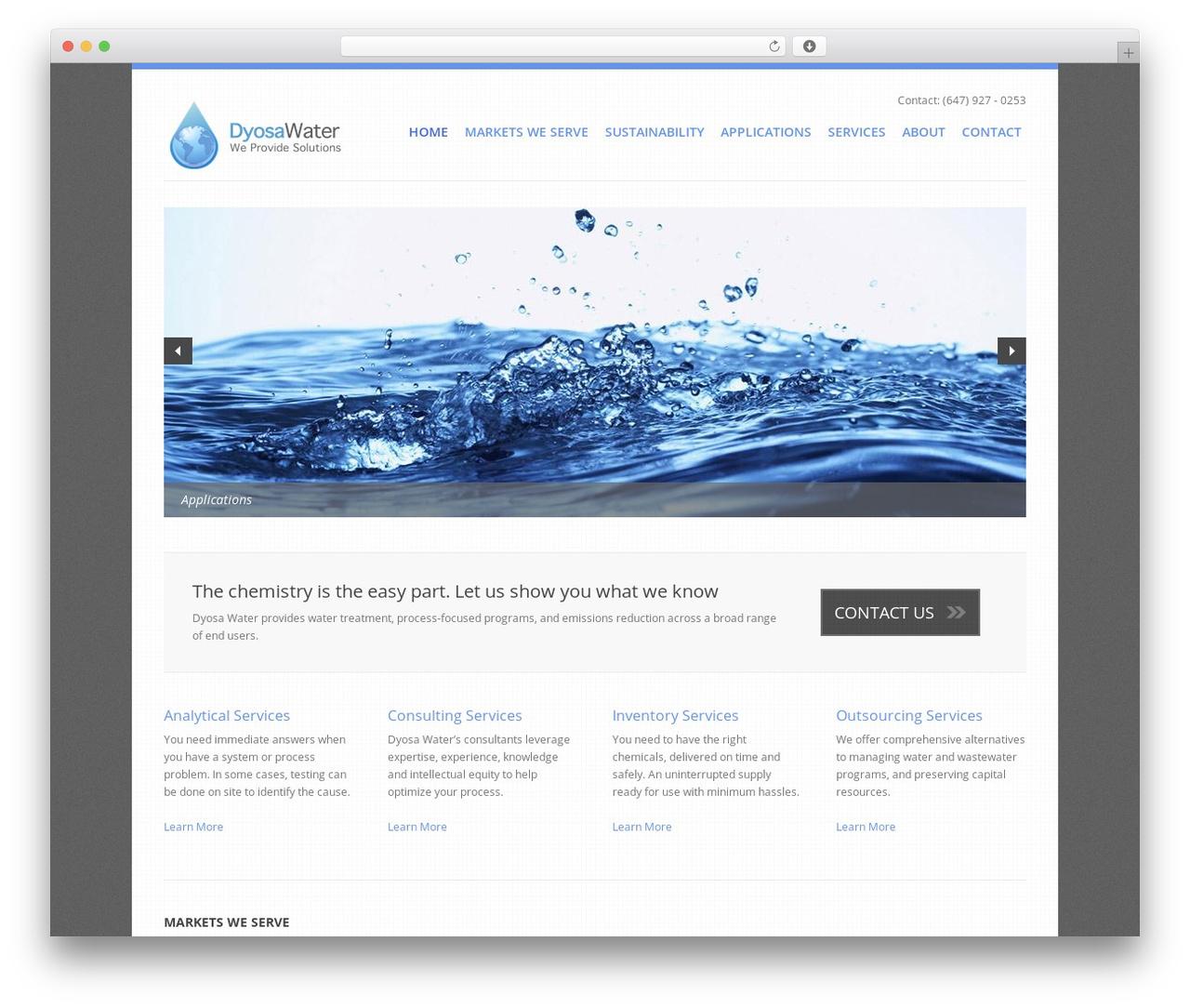 Template WordPress Revolution - dyosa.ca