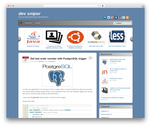 Theme WordPress iTheme2 - devsniper.org
