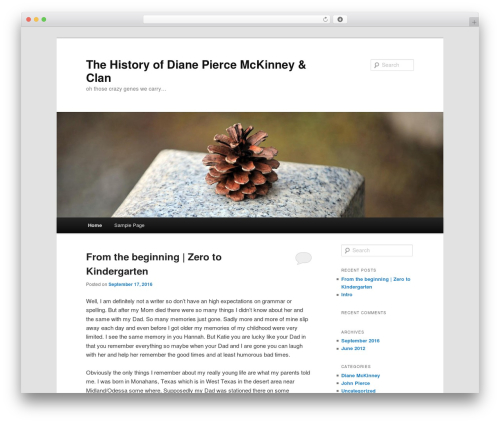 Twenty Eleven WordPress theme free download - dianemckinneyhistory.com