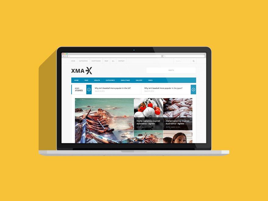 Xmax newspaper WordPress theme
