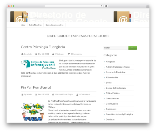 Business Directory WordPress template for business - directoriodeempresasgoogle.com