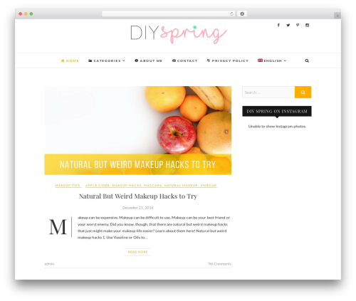Edge WordPress website template - diyspring.com