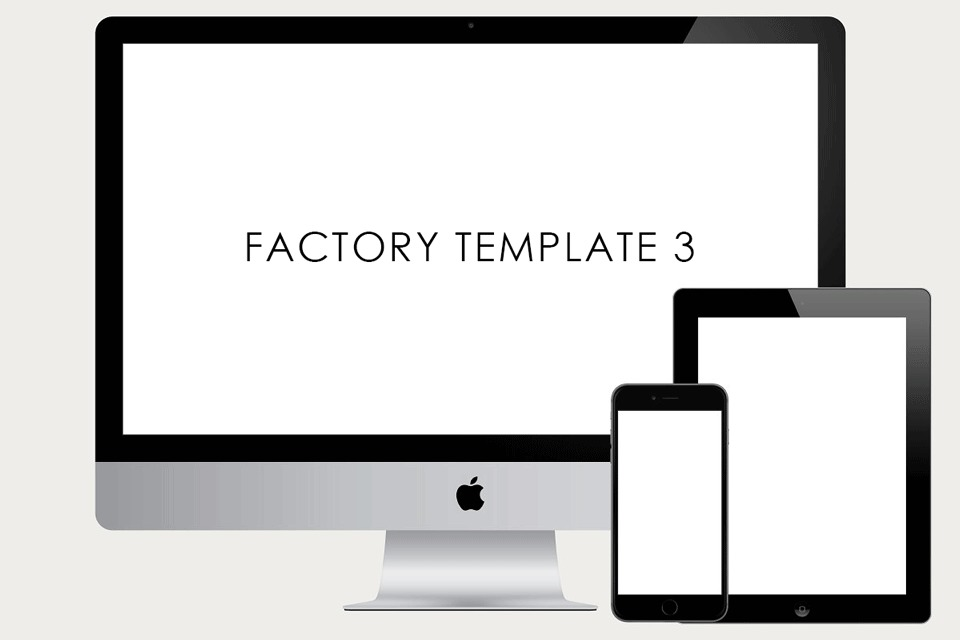 Factory Templates 3 WordPress page template