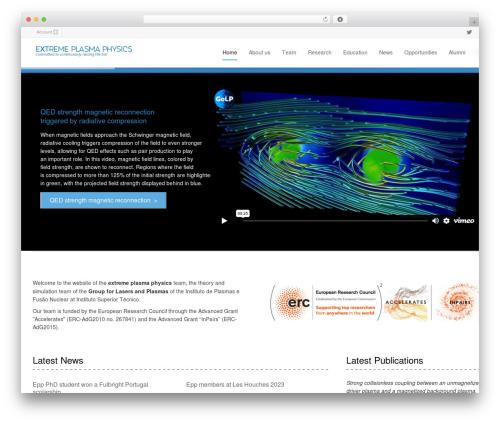 Flexform WordPress theme - epp.ist.utl.pt