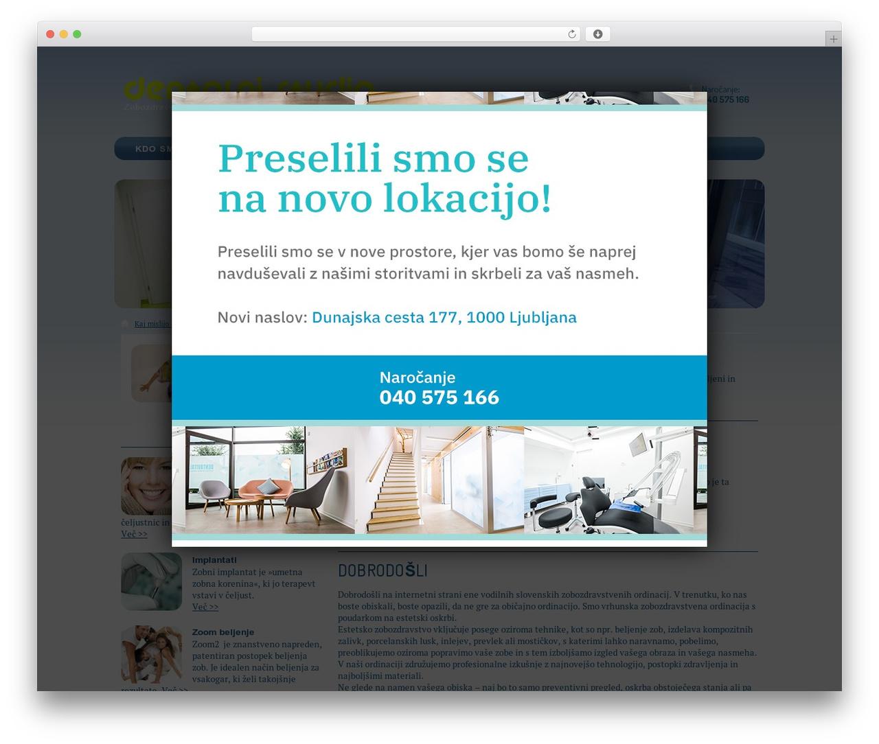 Gantry Theme for WordPress theme WordPress - dentalni-studio.si