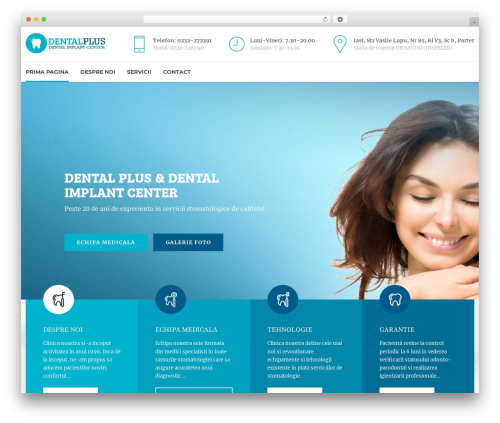 Medicare top WordPress theme - dentalplus.ro