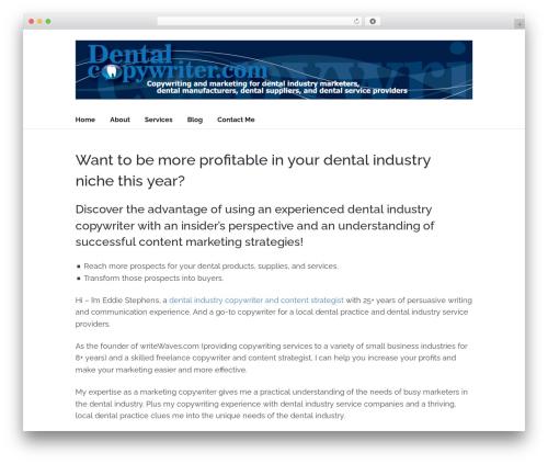 Socrates v5 WordPress template - dentalcopywriter.com