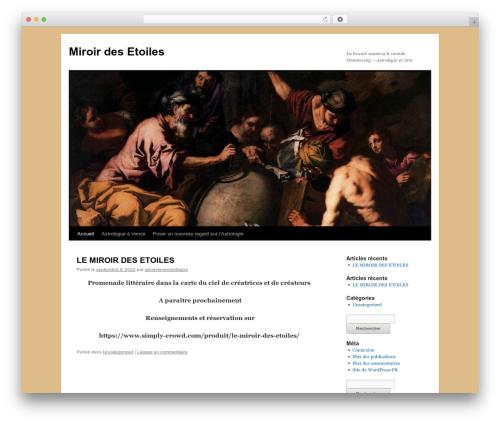 Twenty Ten free WordPress theme - desartsauxastres.com