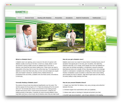 WordPress theme Cardamon WP - diabeticulcertreatment.com