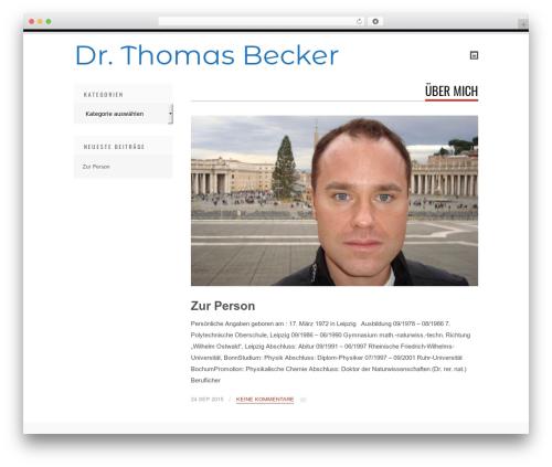 WordPress theme Tesla - dr-thomas-becker.de