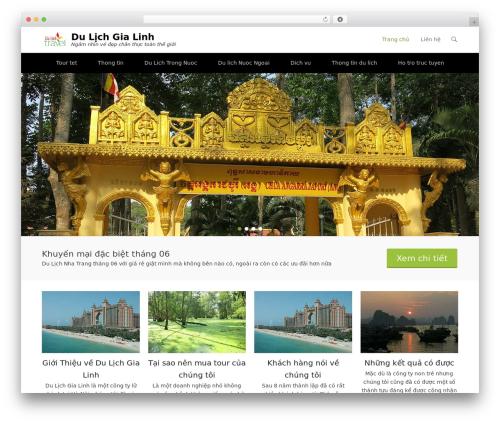 Adventurous theme WordPress free - dulichgialinh.com