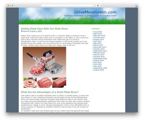 Best WordPress template dkret3 - drivemoregreen.com