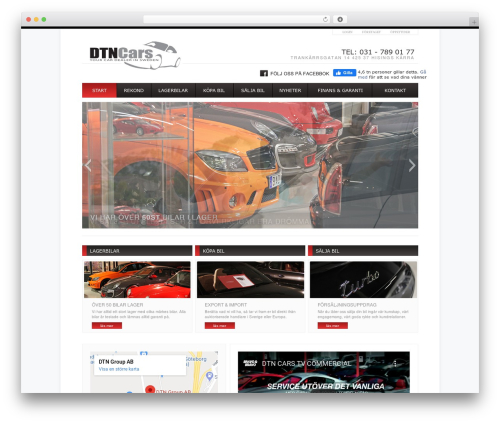 BLANK Theme best WordPress template - dtncars.se