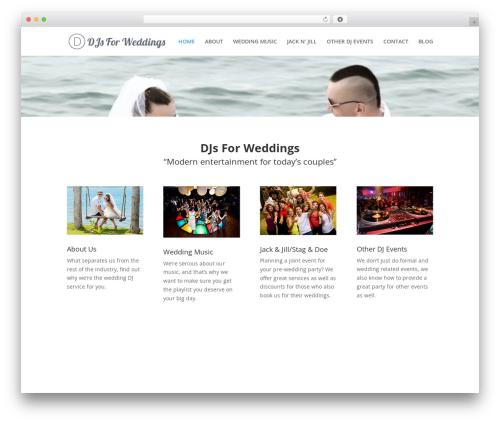 Divi template WordPress - djsforweddings.ca