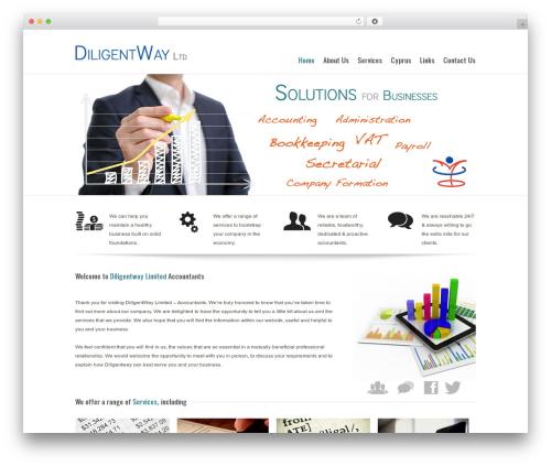 Modular best WordPress template - diligentway.com