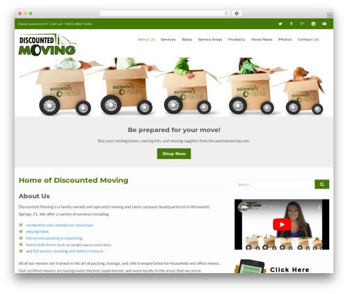 Template WordPress Flat Responsive Pro - discountedmoving.com