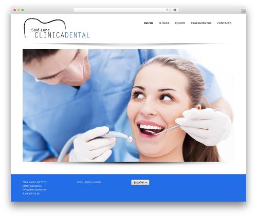 Template WordPress Sparse - dentalsole.com
