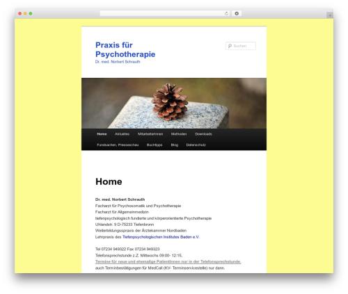 Twenty Eleven WordPress theme - dr-schrauth.de