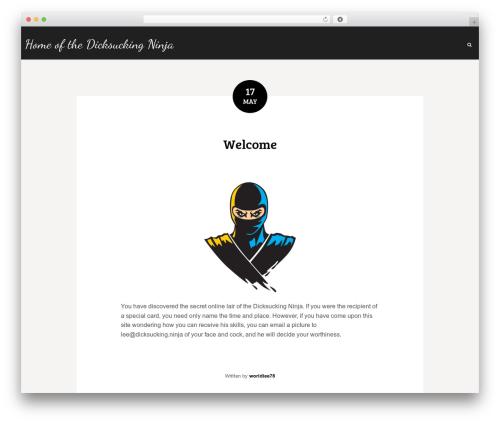 WP template Wordit - dicksucking.ninja