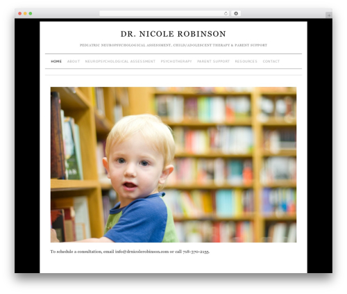 Brunelleschi WordPress theme design - drnicolerobinson.com