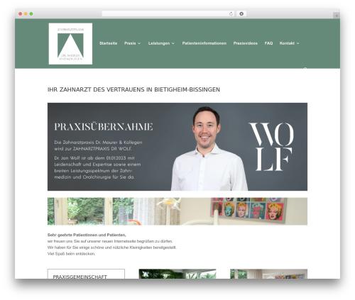 Divi WordPress theme design - dr-r-maurer.de
