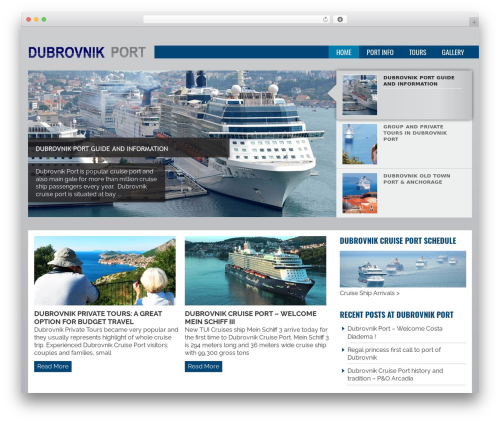 Joshua template WordPress - dubrovnik-port.com