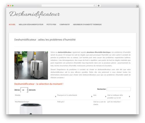 Polar Lite free WordPress theme - deshumidificateurs.org