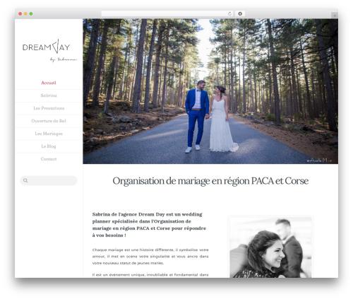 Template WordPress Dream Day Mariage - dreamdaymariage.fr