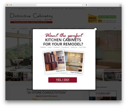 WordPress popup-press plugin - distinctivecabinetry.us