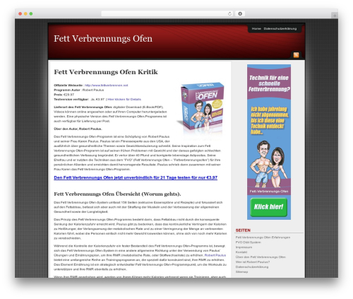 Affiliate Internet Marketing theme WordPress theme - der-fett-verbrennungs-ofen.com