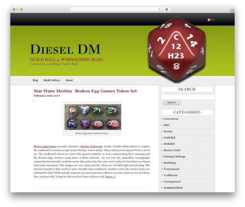 AppleX WordPress blog theme - dieseldm.com