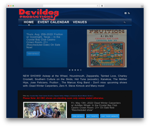 Awake WordPress theme - devildogshows.com